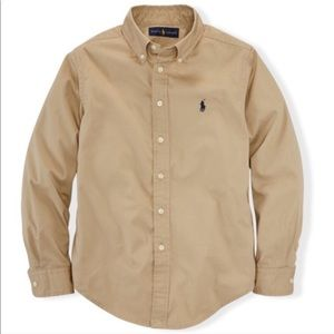 Ralph Lauren Blake Tan Cotton Long Sleeve Shirt XL